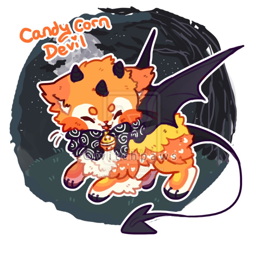 Candy Corn Devil Sushi Cat Auction [CLOSED] by witchpaws on DeviantArt