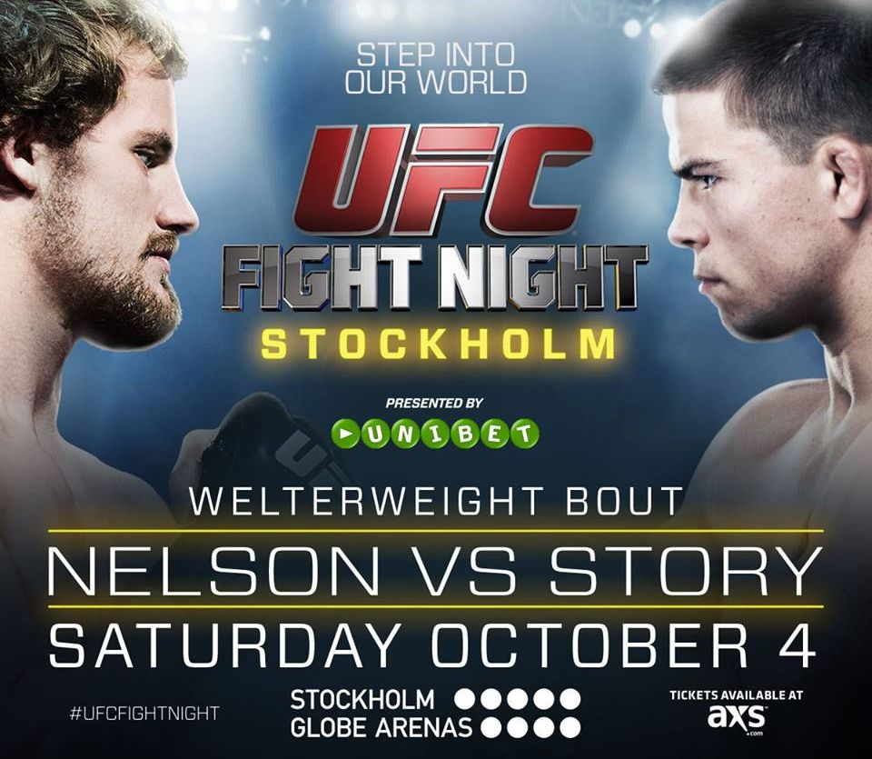Gunnar Nelson Vs Rick Story Ufc Fight Night In Stockholm October 4th Can T Wait Ufc Fight Night Ufc Gunnar Nelson