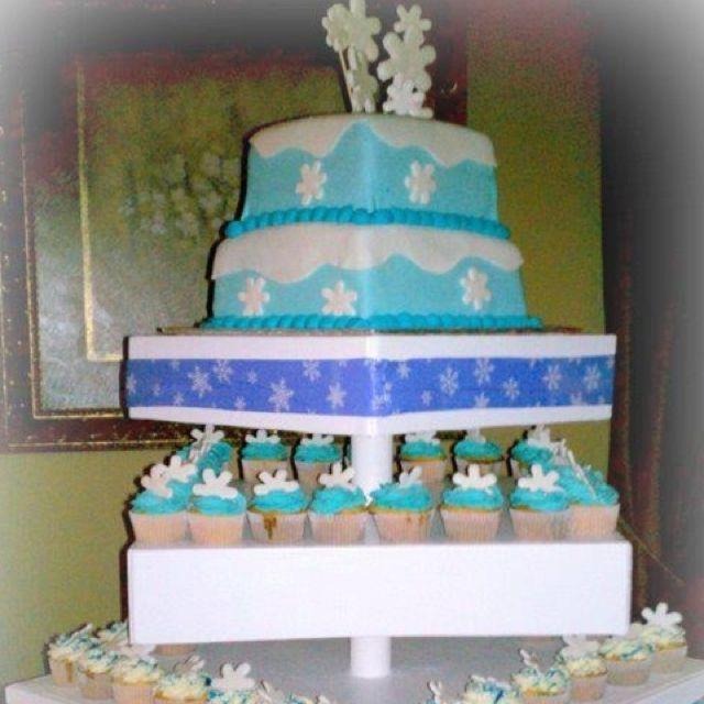 winter wonderland cake n cupcakes baby shower for my babies pinte