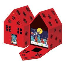 image result for christmas box house