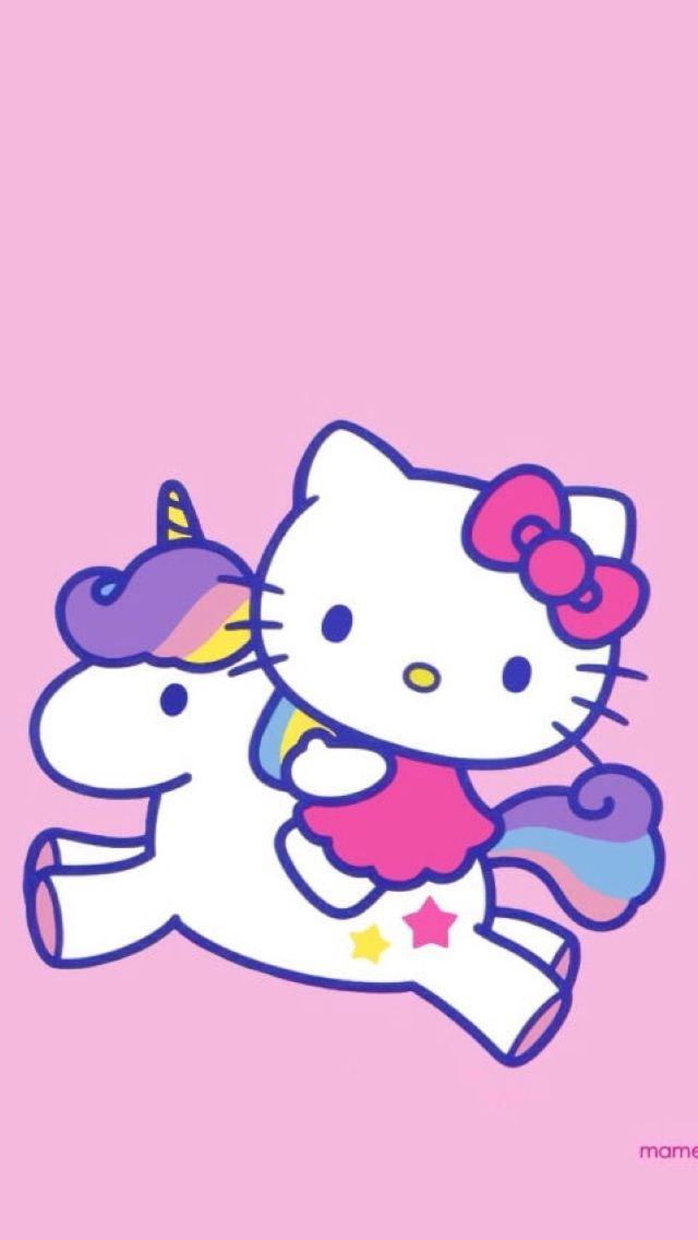 Mhkitty cute pinterest hello kitty wallpaper hello kitty atop a unicorn altavistaventures Images