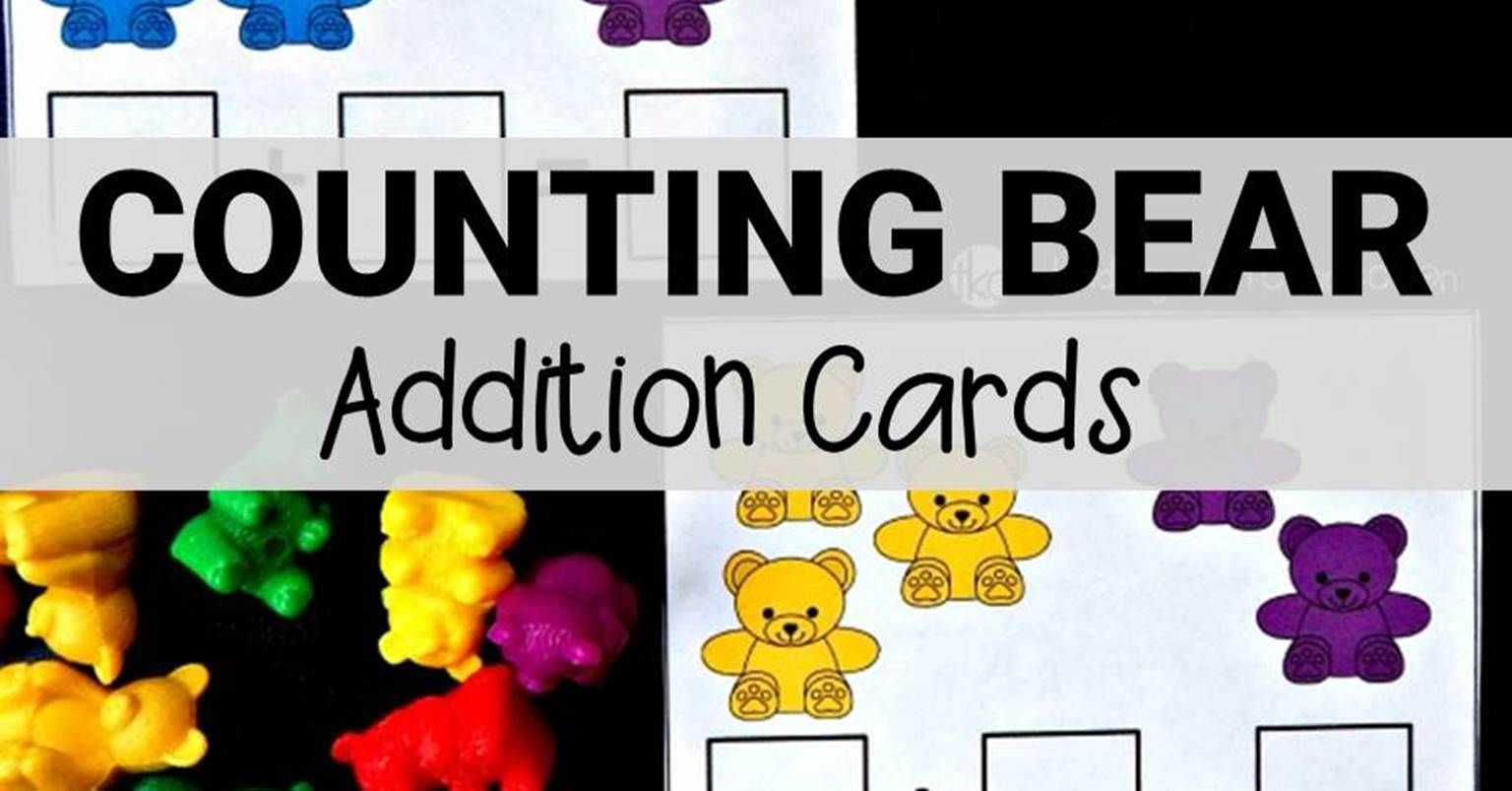 Counting Bear Addition Cards With Images