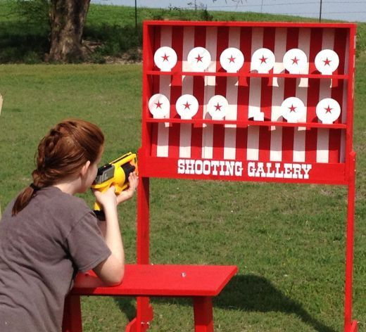 Shooting Gallery With Gun And