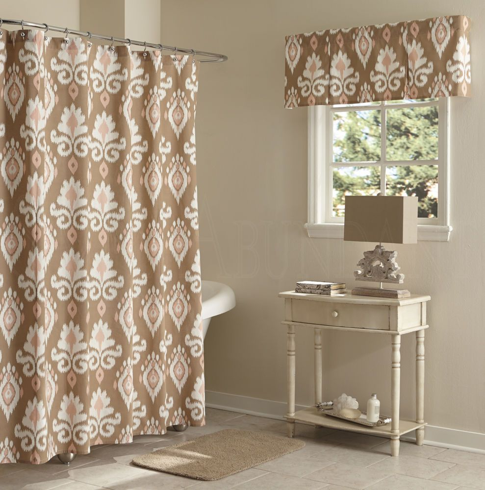 split shower curtain ideas. Split P Bethany Blush \u0026 Taupe Ikat Print Cotton Shower Curtain Unlined Ideas E