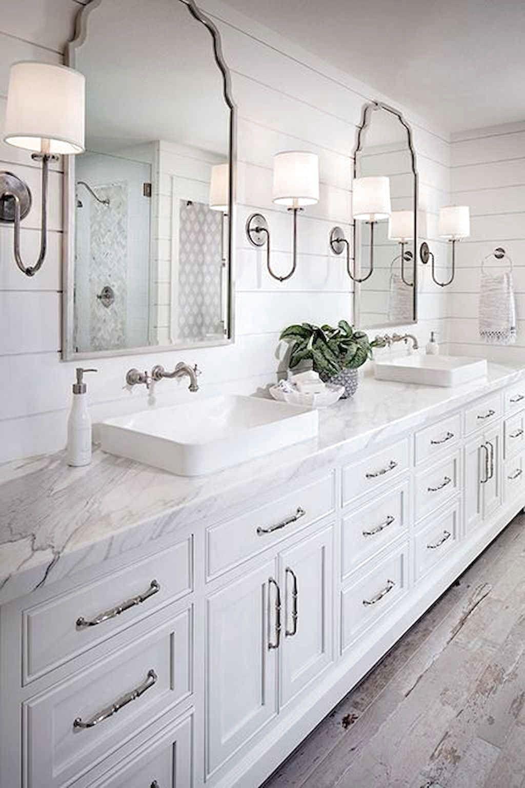 60 Amazing Farmhouse Bathroom Decor Ideas Farmhousebathroom Bathroomdecor Bathroom Vanity Decor Bathroom Design Bathroom Interior