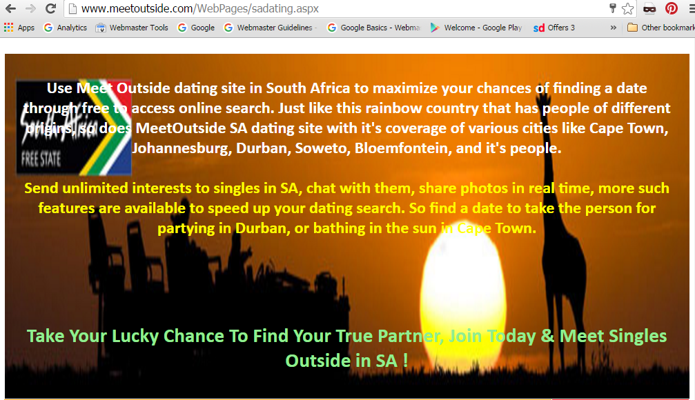 dating site in sa