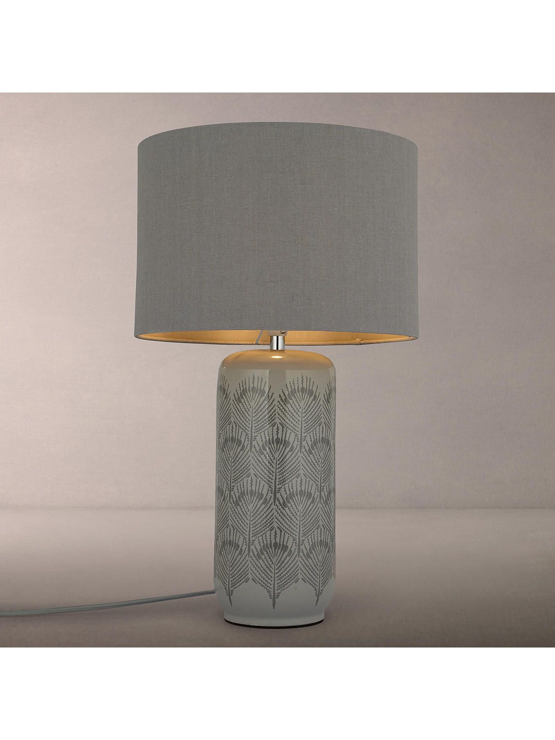John Lewis Partners Pavone Table Lamp Grey Hallway Grey Table Lamps Table Lamp Lamp Shades