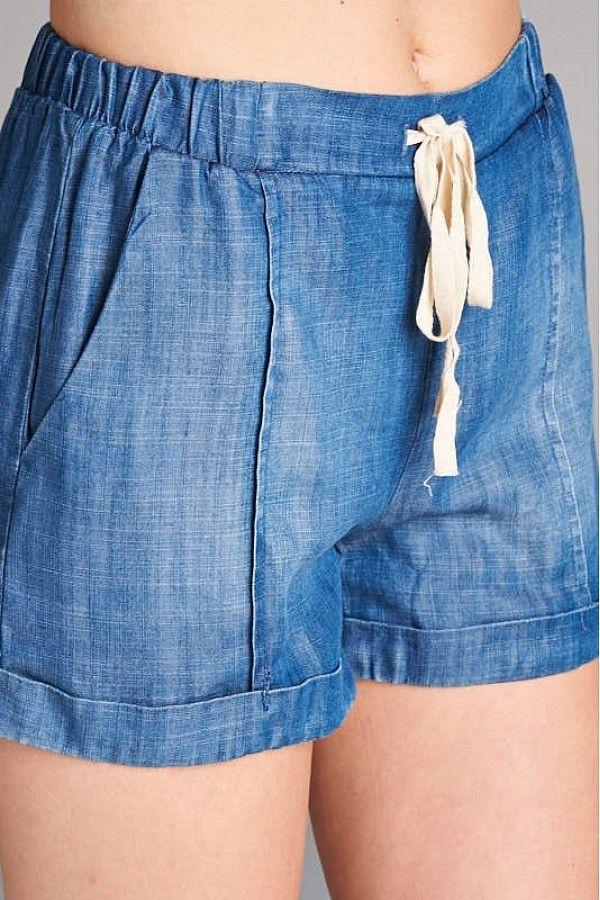Tencel Denim Shorts