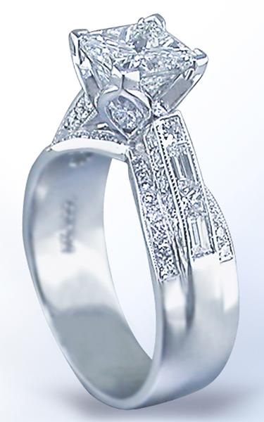 JB Star Diamond Rose 2337003 Vintage Syle Engagement Rings