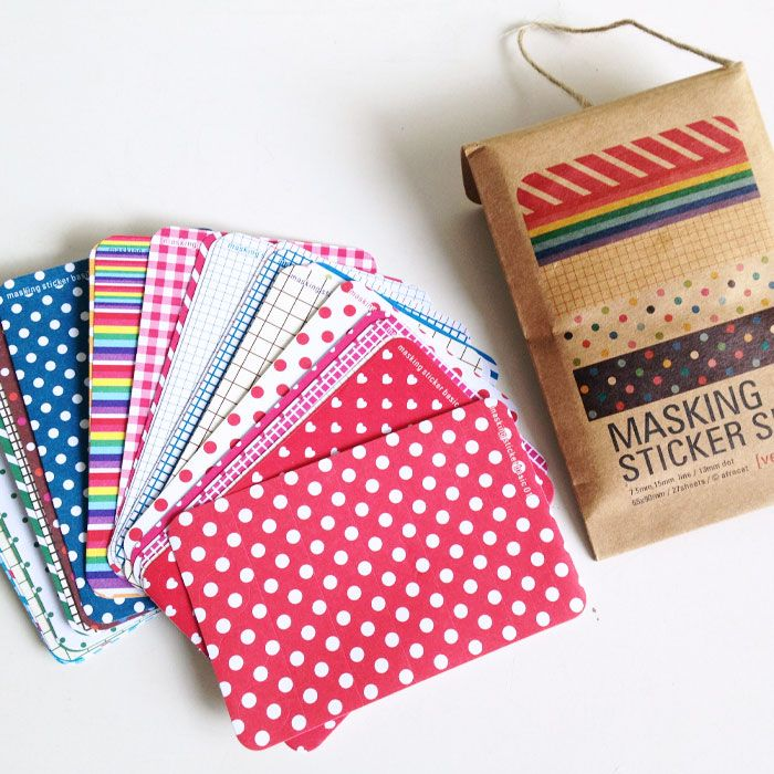Washi masking tape sticket set