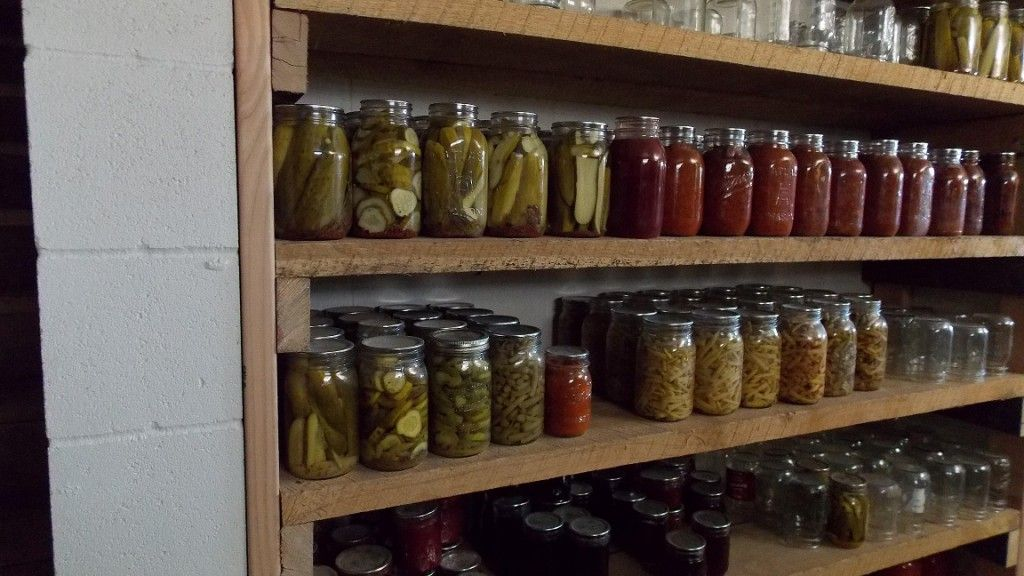Canning Jars Basement