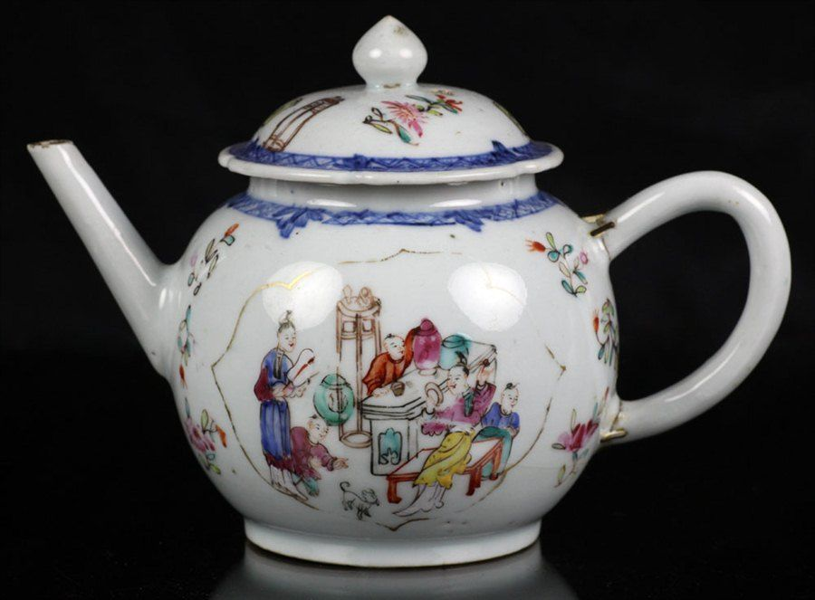 Antique Rose Teapot | Antique Chinese Teapot