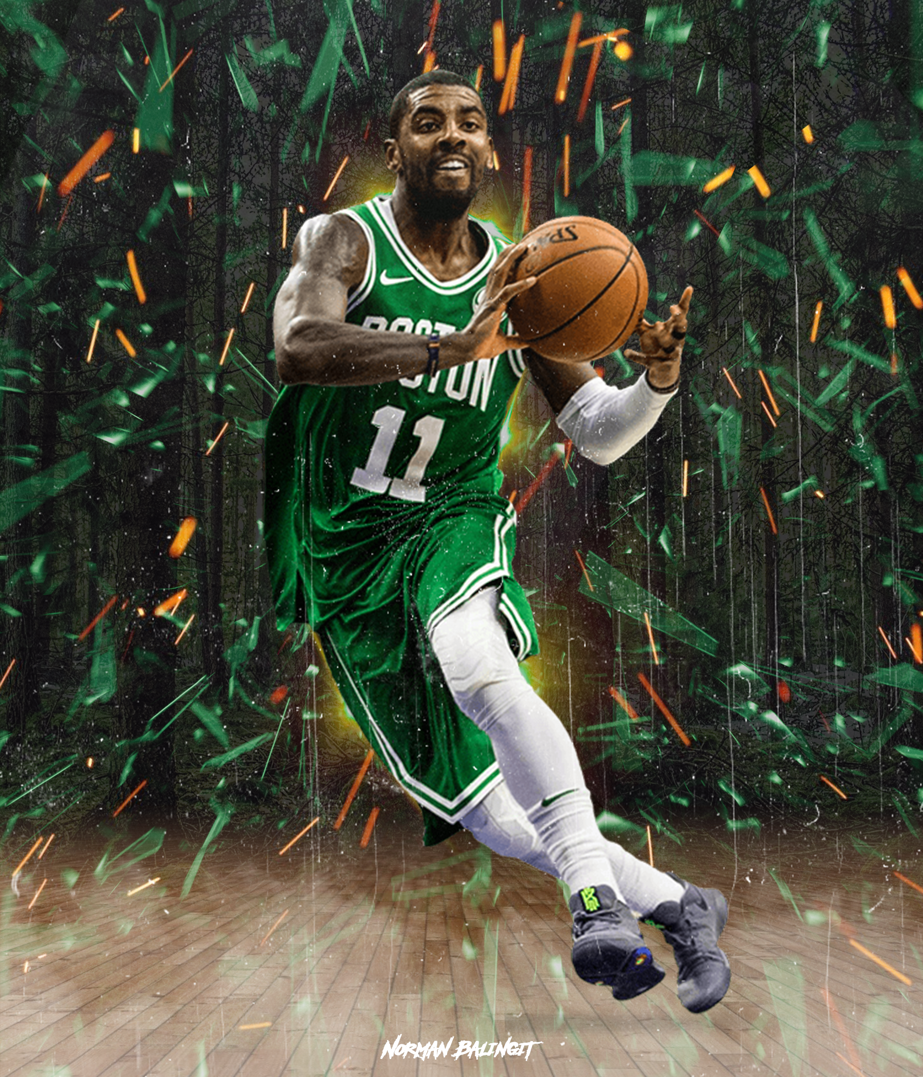 Kyrie Irving Poster Wallpaper Kyrie Irving Celtics Kyrie Irving Kyrie