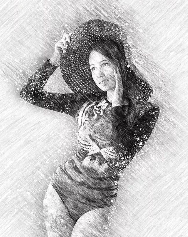 Pencil Sketch Photoshop Action | Sketch photoshop