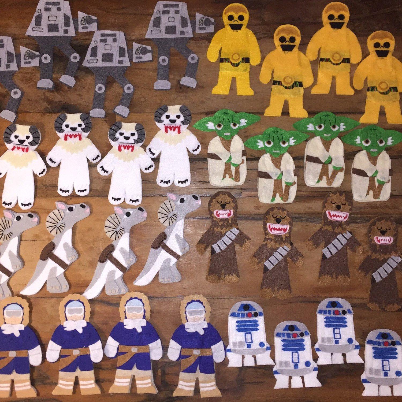 Kraftikassi Shared A New Photo On Etsy Star Wars Christmas Ornaments Felt Crafts Christmas Felt Ornaments