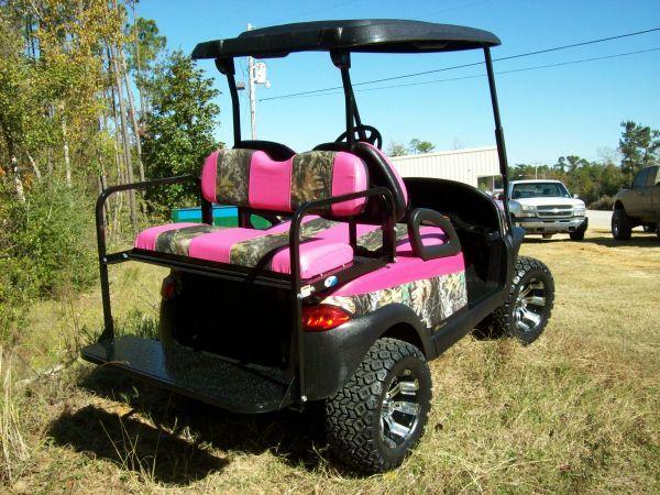Pink Camo Golf Cart Seat Covers