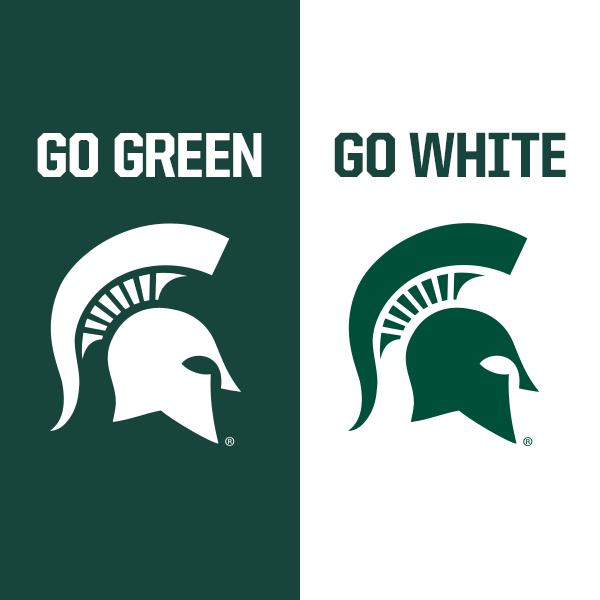 Go Green Go White I Bleed Green And White Michigan