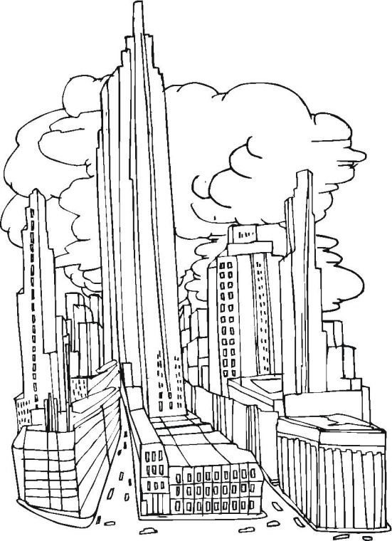 Free Buildings Coloring Pages Coloring Pages Detailed Coloring