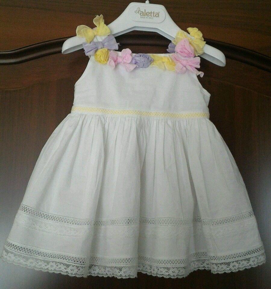 77ef5e332933 Aletta abito battesimo cerimonia bimba neonata 9 mesi made italy vestitino  bianc in Abbigliamento e accessori