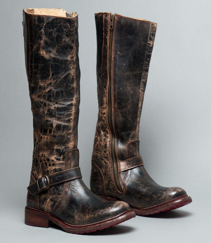 Bed Stu Womens Black Boots Ii Lux
