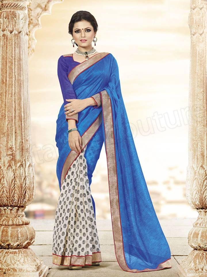 Latest Bhagalpuri Silk Saree Designs 2014 for Young Girls (4)