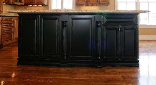 Black Distressed Kitchen Cabinets Rta Cabinet Products