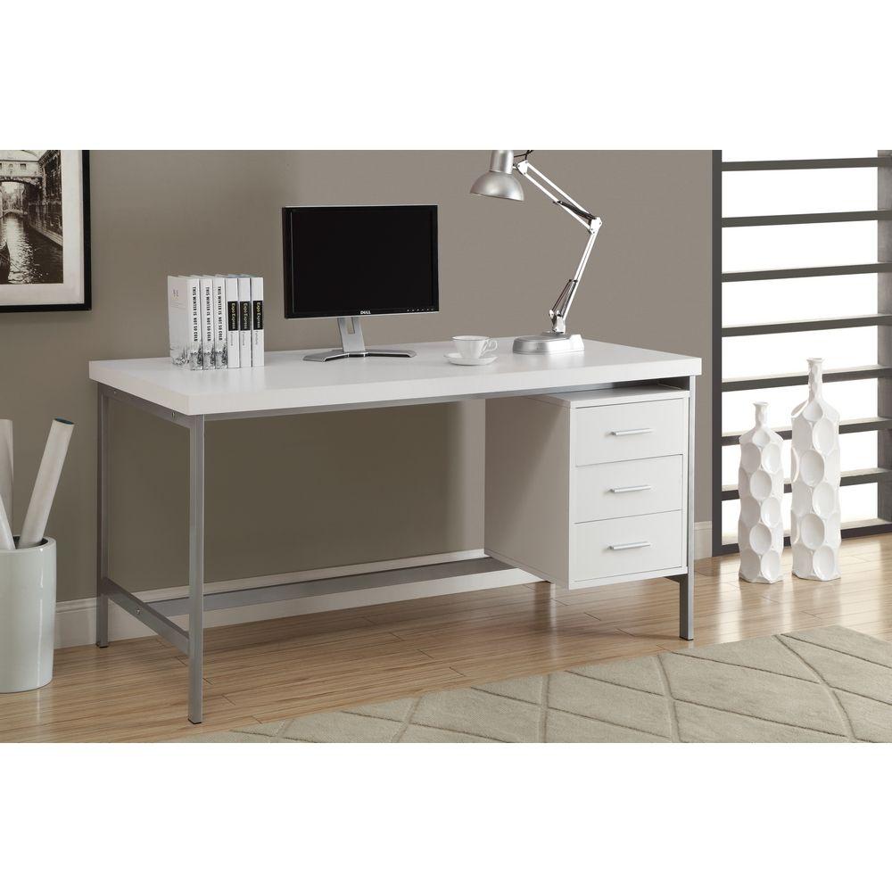 metal office desks. Monarch Specialties White \u0026 Silver Metal 60\ Office Desks E