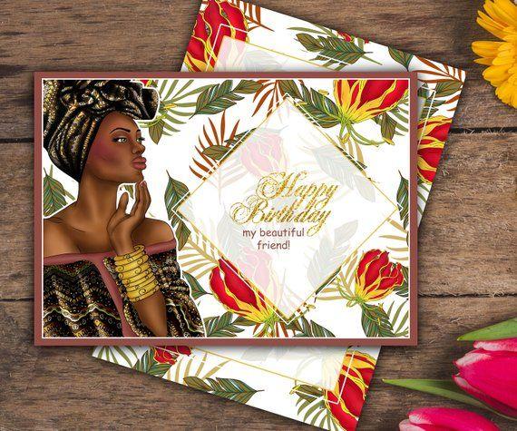 african princess card afroamerican card black beautiful