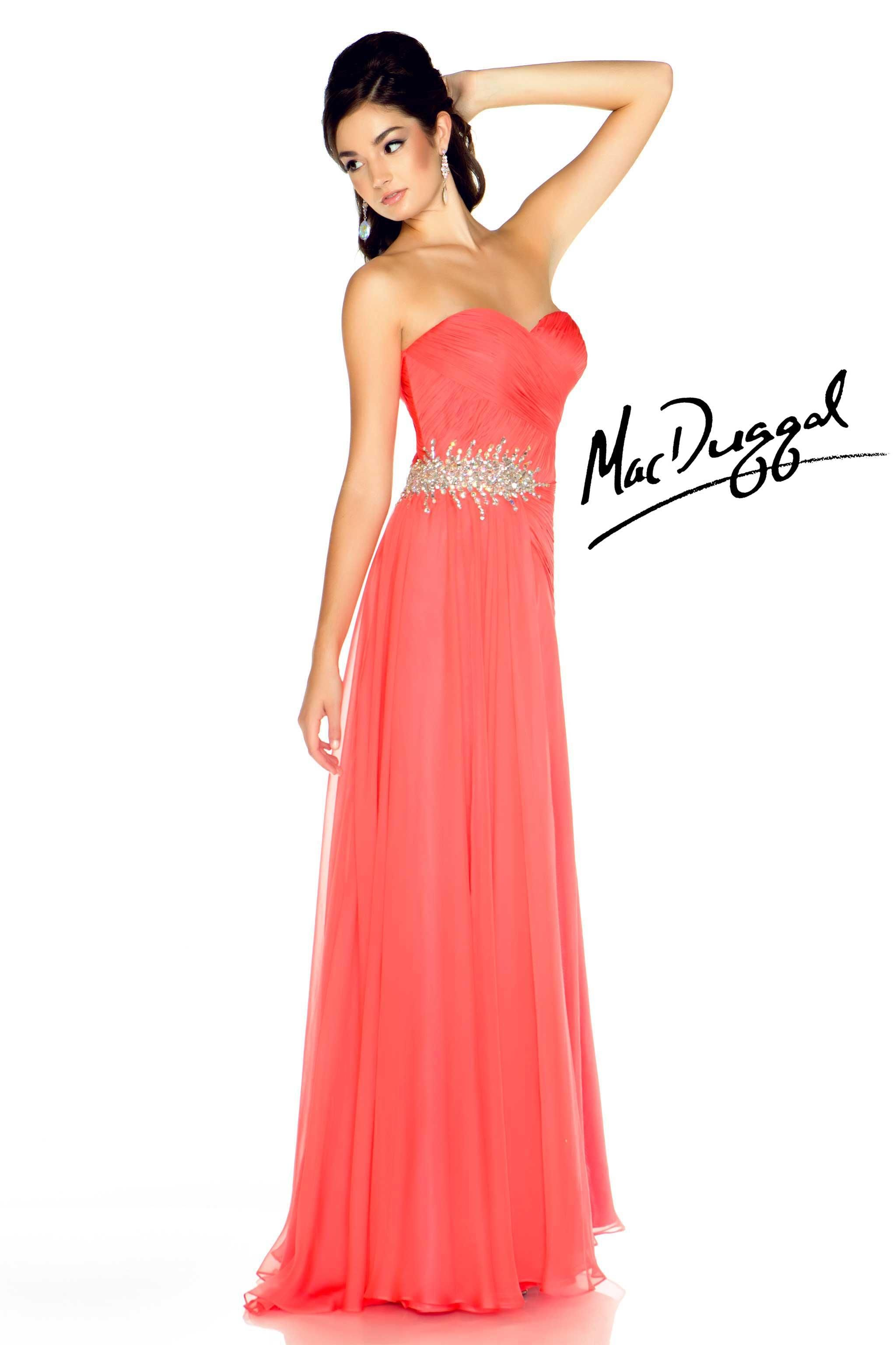 Long Coral Prom Dress | Only for my wedding.... | Pinterest ...