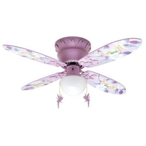 "Disney Fairies Tinkerbell 42"" Hugger Ceiling Fan"