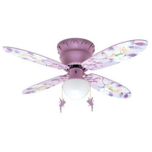 "Disney Fairies Tinkerbell 42"" Hugger Ceiling Fan   Tinker ..."