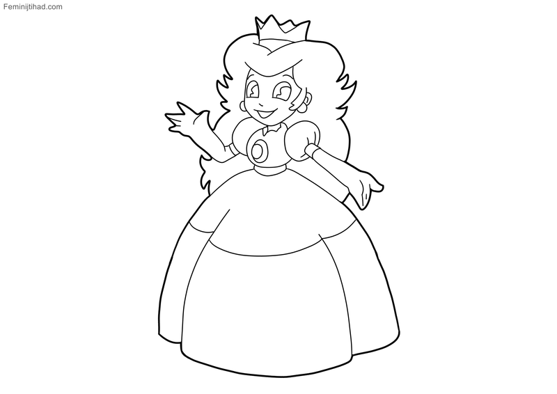13+ Princess peach coloring pages to print free info