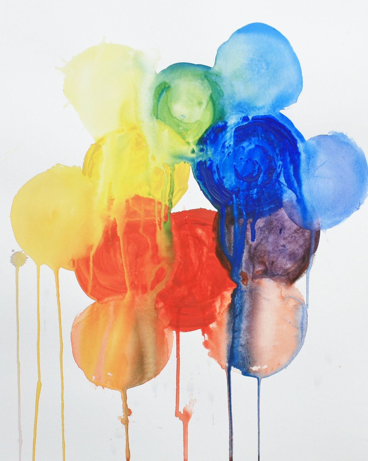 Rainbow Balloons Mixing Colors Print From Original