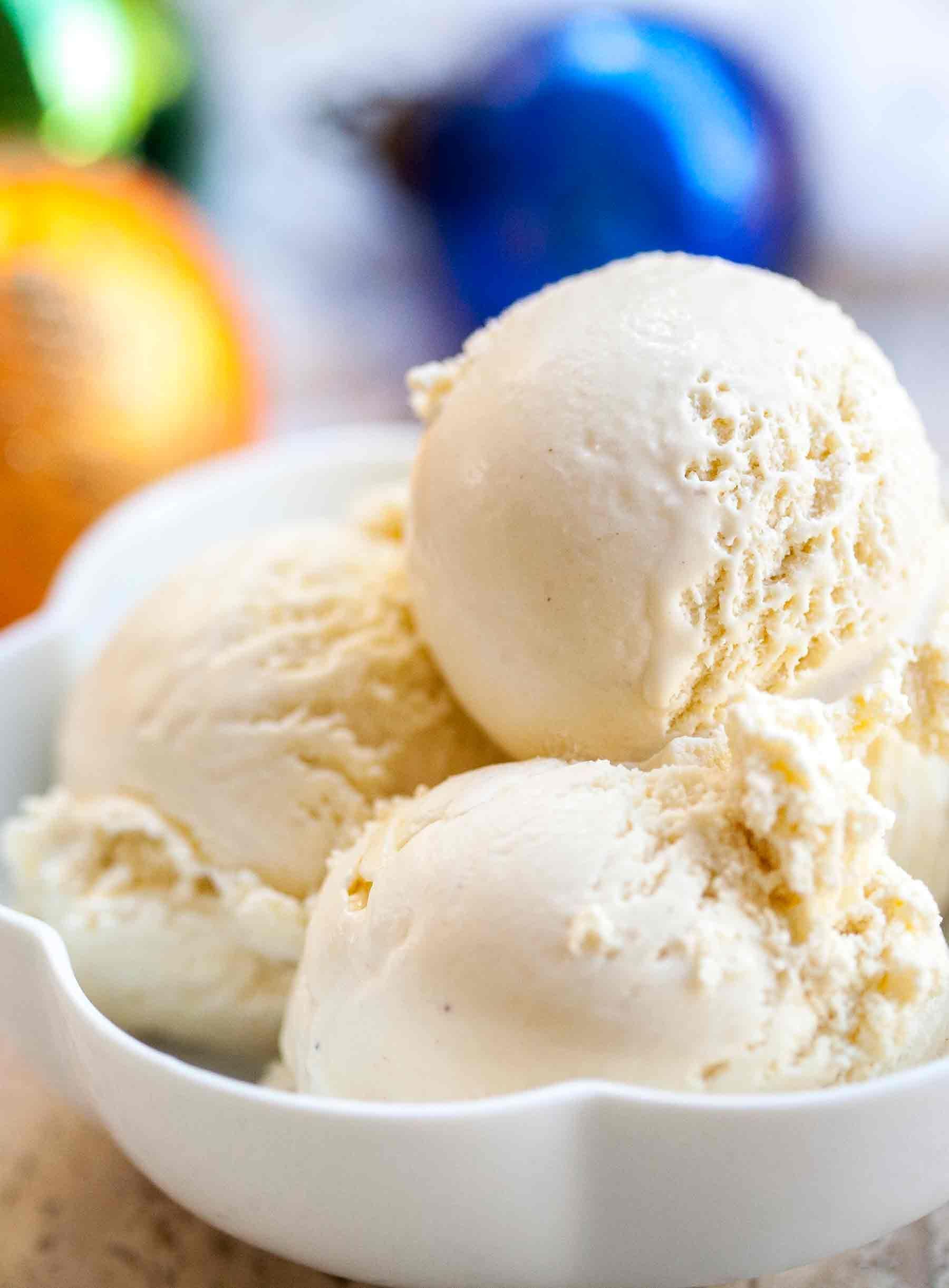 Eggnog Ice Cream Recipe Homemade Simplyrecipes Com Recipe Eggnog Ice Cream Ice Cream Recipes Homemade Ice Cream Recipes