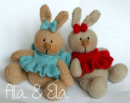 Knitted Toys: Baby Bunny