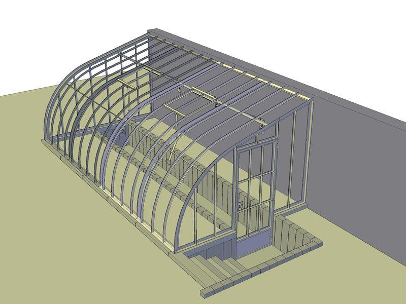 serre adossée verre sur mesure encastrée design 3D DBG ...