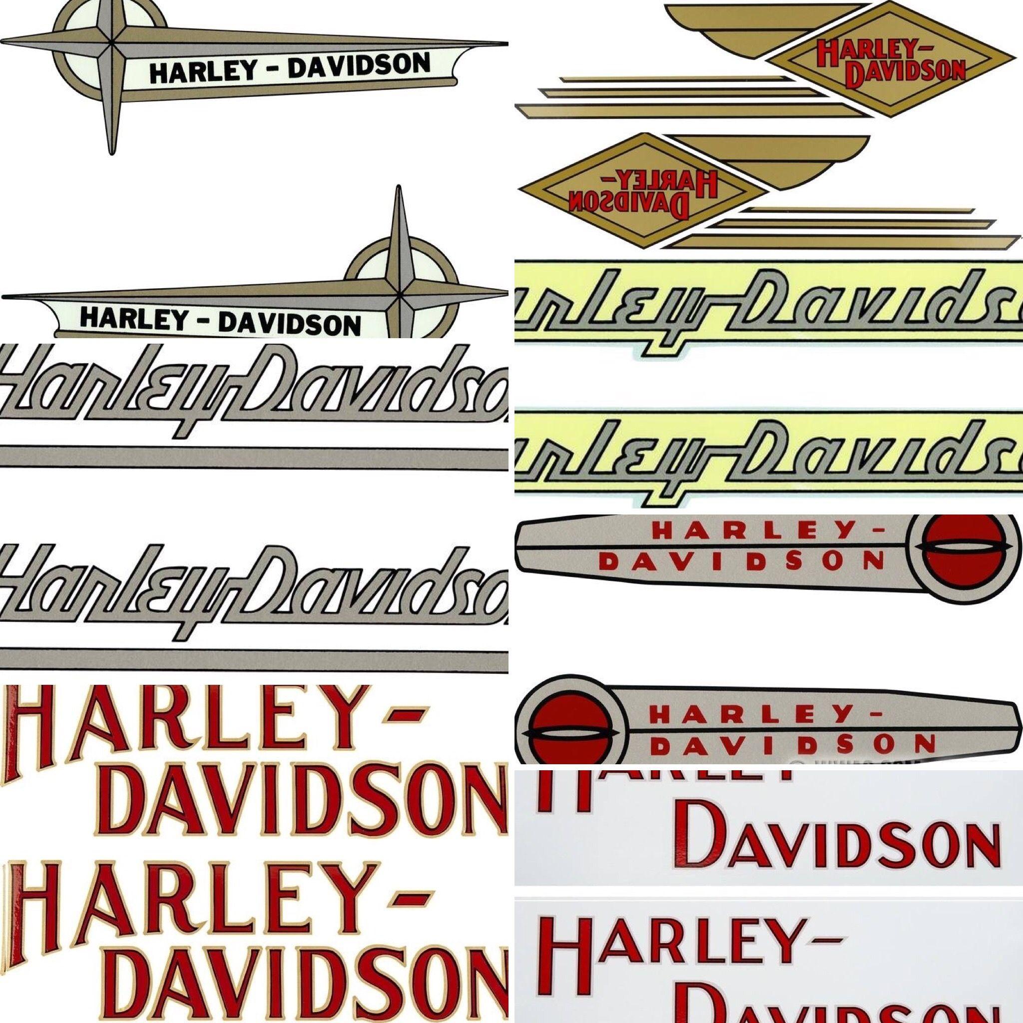 Originele Harley Davidson Tank Decal Stickers Tekoop Aangeboden