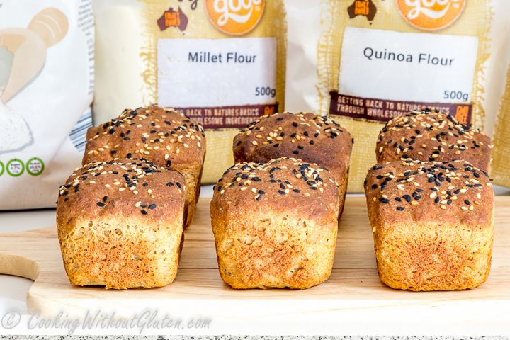 Gluten free bread mini loaves with Well and Good new Raw Ingredients line