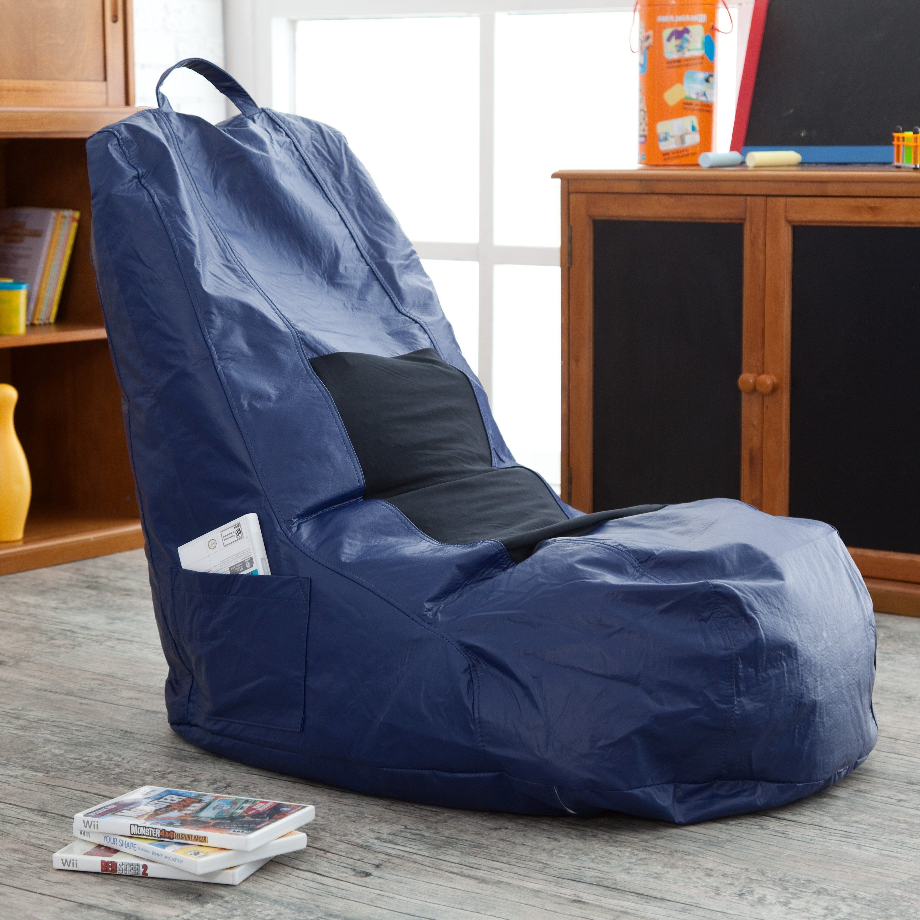 Big joe zip modular armless chair at brookstone buy now - Sweet Spot Vinyl Video Bean Bag Chair From Hayneedle Com