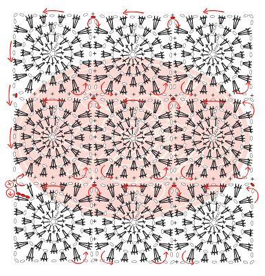 Eva's Doodlings: crochet squares together as you go.