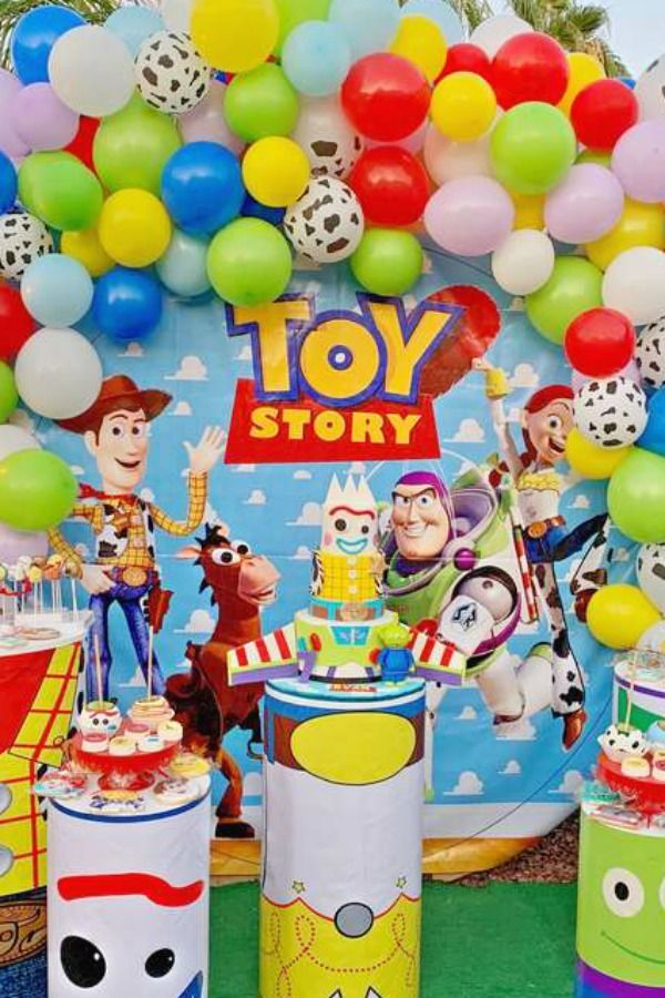 Take a look at this fun Toy Story birthday party! The