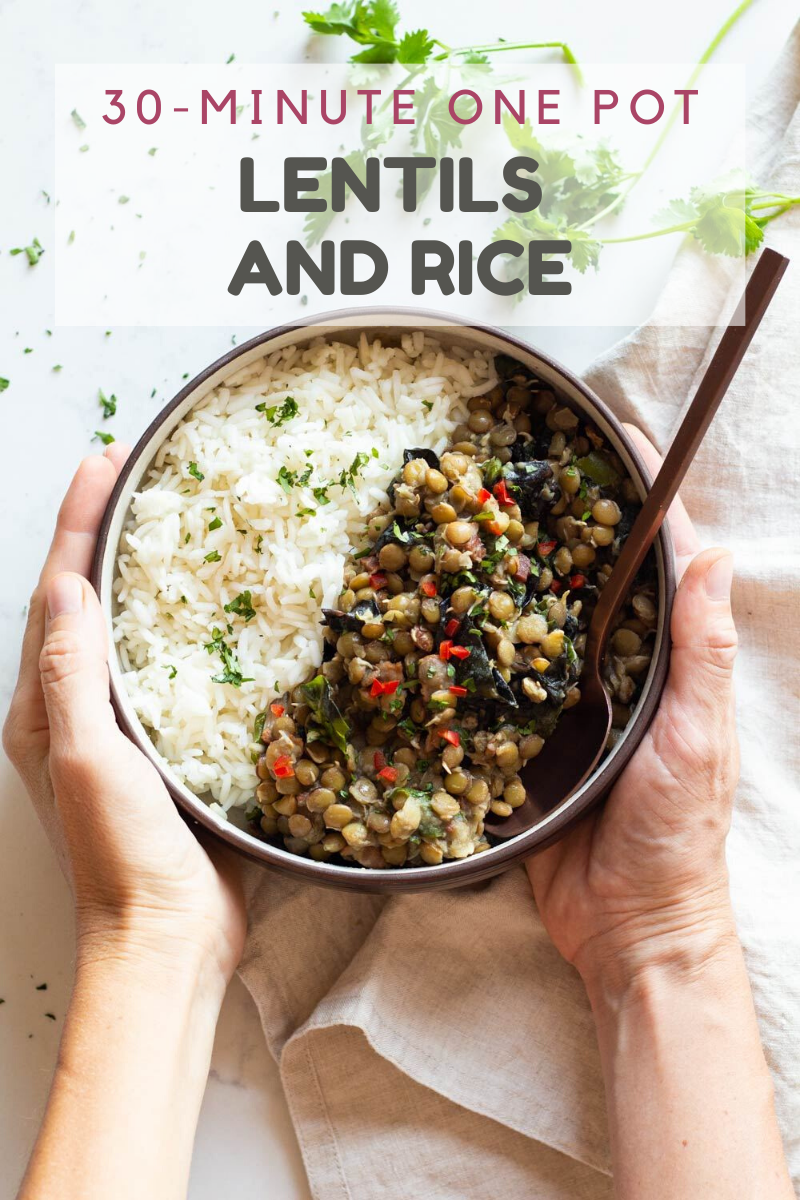 30 Minute One Pot Lentils And Rice In 2020 Cooking Recipes Healthy Brown Rice Recipes Easy Healthy Instant Pot Recipes