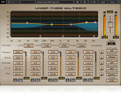Linear Phase Multiband Compressor Plugin Waves Waves Audio Linear Plugins