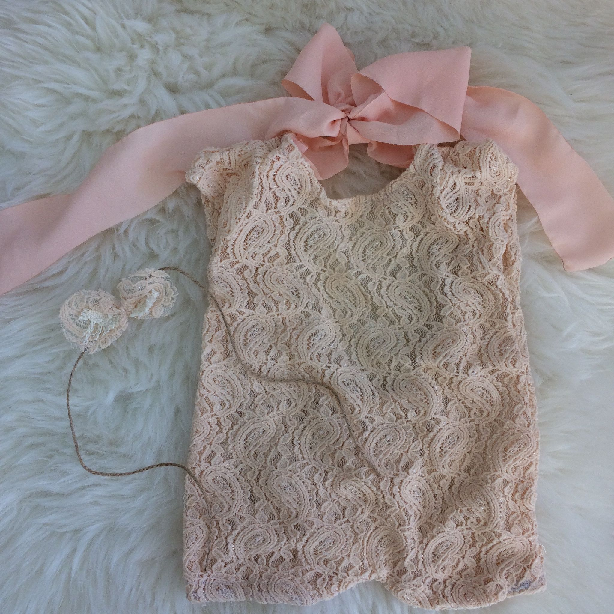 Newborn Lace Romper