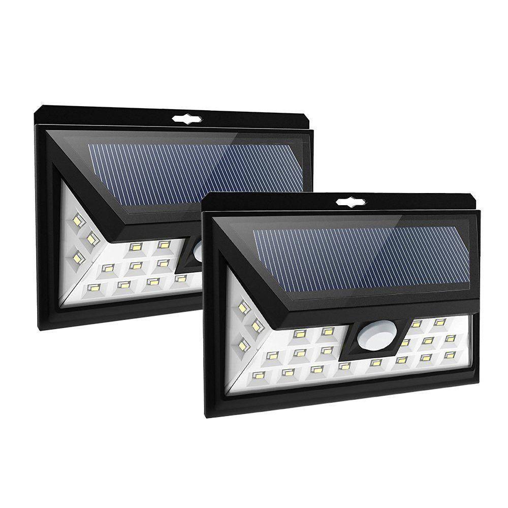 1u00262 pack 24 led bright solar power light motion sensor garden security wall lamp
