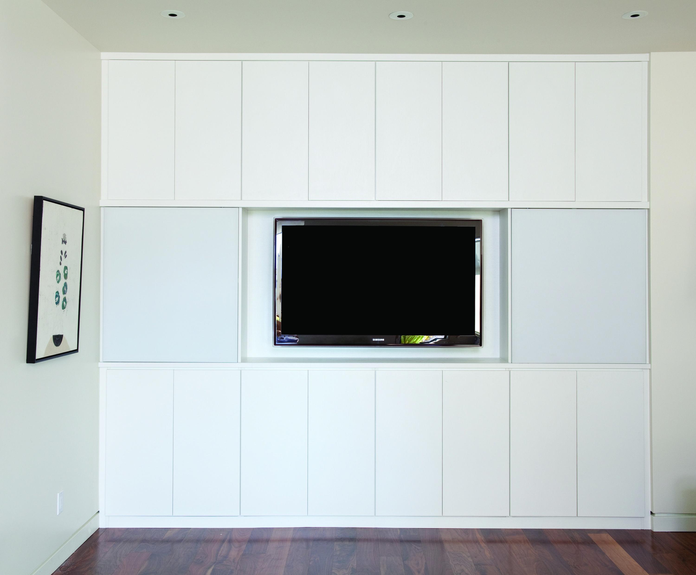 Built in White Media Center | Entertainment Centers We Love | Pinterest