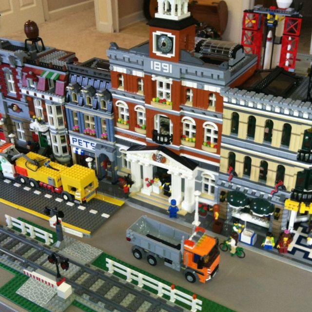 Lego City Street With Train Track Lego Lego Lego Modular Cool