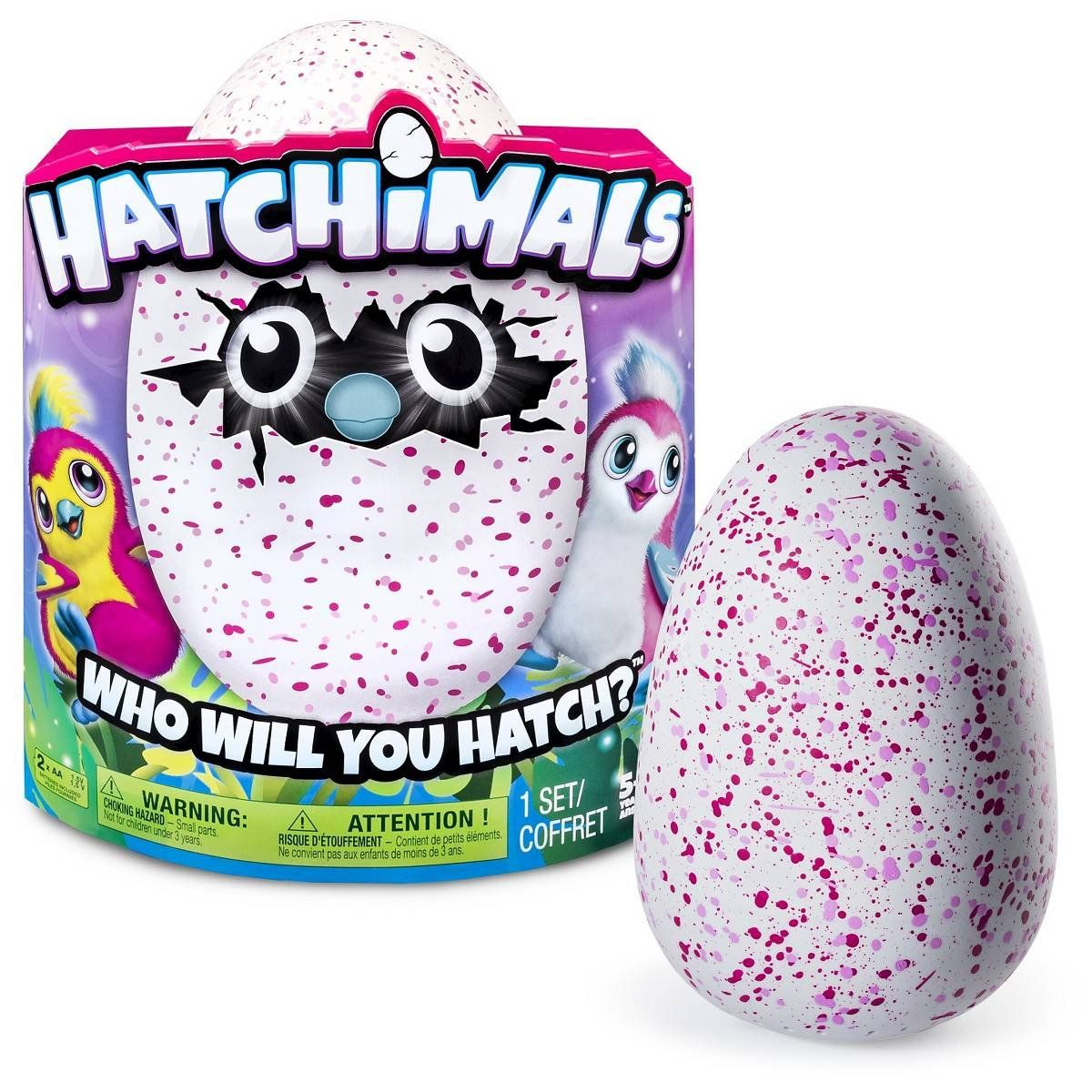 Hatchimals Hatching Egg Bearakeet by Spin Master Pink