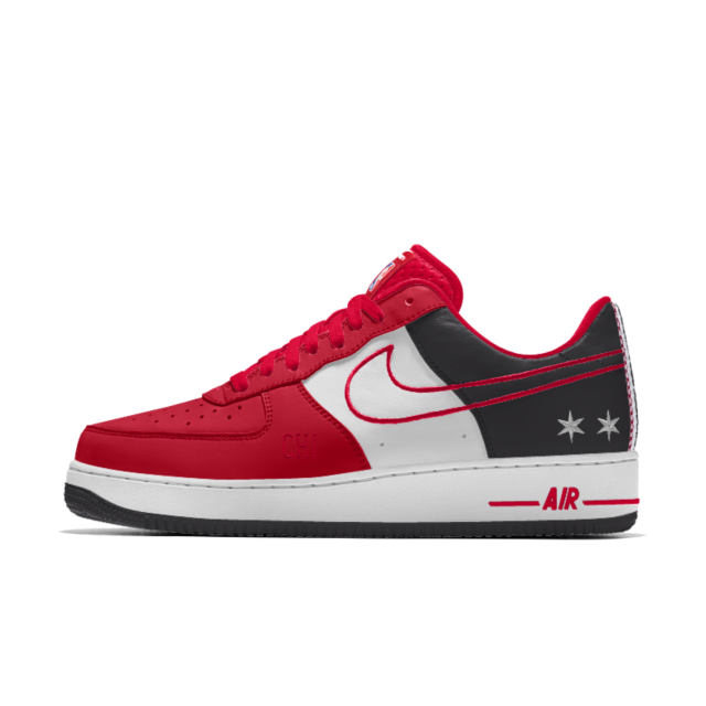 newest 18e85 25c59 Nike Air Force 1 Low Premium iD (Chicago Bulls) Mens Shoe