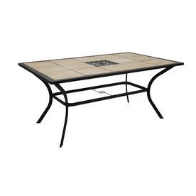 Garden Treasures Eastmoreland Tile Top Brown Rectangle Patio Dining Table.  $140.00 On Lowes.